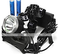 Lights Headlamps LED 2200 Lumens 3 Mode 18650 Waterproof / RechargeableCamping/Hiking/Caving / Everyday Use / Cycling/Bike / Hunting /
