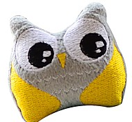 Cute Owl Shaped Squeaking Plush Toy For Pet Dogs(Assorted Colour)