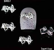10pcs Dots Rhinestone Bow Tie 3D Alloy Nail Design  DIY Nail Art Decoration