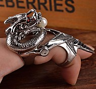 Z&X®  Punk Vintage Style Super Cool Alloy Chinese Dragon Men's Knuckle Ring