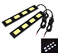 GC® 2Pcs 15cm 15W 5x COB 1500LM 8000K Cool White Light LED for Car Daytime Running Light (DC 12V)