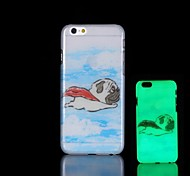 Pug Pattern Glow in the Dark Hard Case for iPhone 6