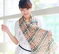 las cifras de las mujeres en la bufanda de impresión tapa