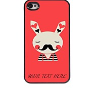Personalized Phone Case - Rabbit Design Metal Case for iPhone 4/4S