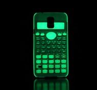 Calculator Pattern Glow in the Dark Hard Case for Samsung Galaxy S5