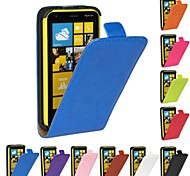 Flip-Open Horse Grain PU Leather Full Body Case for Nokia Lumia 620 (Assorted Colors)