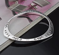 Lureme Fashion Sterling Silver LOVE HOPE PARTY Letter Bracelet