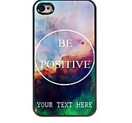 personalisierte Telefonkasten - positive Design-Metall-Case für iPhone 4 / 4s sein