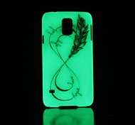 Feather Pattern Glow in the Dark Hard Case for Samsung Galaxy S5