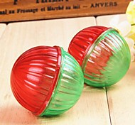 Cute Two-Tone Thread Pattern Plastic Squeaking Ball  Toys for Pet Dogs Cats
