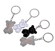 Personalized Gift Bear Metal Engraving Couple Keychain