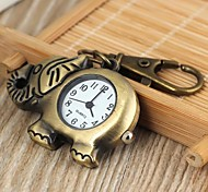 Unisex Elephant Style Alloy Analog Quartz Keychain  Watch (Bronze)