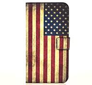 patrón de la bandera americana el caso de cuero de la PU con el soporte y la tarjeta de la ranura para g7 Huawei Ascend