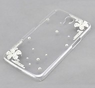 Crystal Luxury Flowers Diamond Back Cover Case for Samsung Galaxy Mega 6.3 I9200 I9208