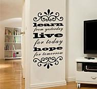 JiuBai® Learn Live Hope Quote Wall Sticker Wall Decal, 56Cm*115Cm