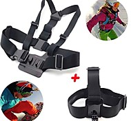 Gopro Accessories 2 in 1 kit Chest Strap + Head Strap for GoPro Hero 1 2 3 3+ 4 SJ4000 Sport Cameras