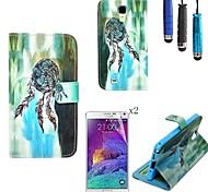patrón campanula cuero de la PU caso de cuerpo completo con lápiz táctil y la película protectora 2 piezas para Samsung Galaxy Note 3