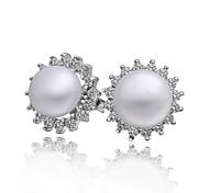 neue Ankunft hochwertiger elegent Perlenohrstecker