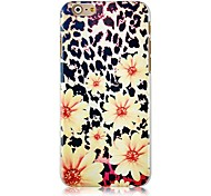 Leopard Grain Daisy Pattern Hard Back Case for iPhone 6