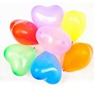 100 Pcs 7 Inch 0.7 Grams Heart Wedding Party  Decoration Ordinary Balloon