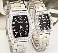 Couple's A Diamond Square Dial Alloy Band Quartz Fashion Watch (Assorted Colors) Cool Watches Unique Watches
