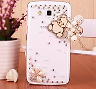 Crystal Luxury Swarovski Little Bear Pendant Diamonds Back Cover Case for Samsung Galaxy Grand 2 G7106 G7102