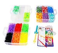 Eruner®DIY Bracelets Rainbow Color Loom Bands Random Color Rubber Band Set