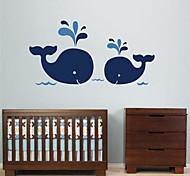 JiuBai® Cartoon Dolphin Wall Sticker Wall Decal