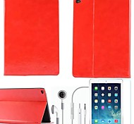 Crazy Horse PU Leather with Protective Film and Headset for iPad Air 2 /iPad 6 (Assorted Colors)
