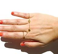 Eruner®Bracelet Bangle Slave Chain Link two Fingers Rings Hand Harness Gold
