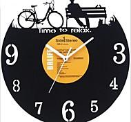 """style rétro lp mur bricolage horloge acrylique avec couvercle lp terminé 12 """"(30 cm), design décontracté"""