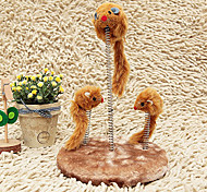 Spring Platform With Rat Toys For Pet Cats