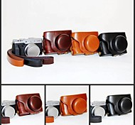 Pajiatu Retro PU Leather Camera Protective Case Bag Cover with Shoulder Strap for Fujifilm X30 Digital Camera