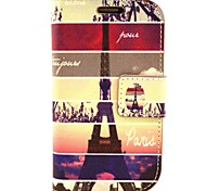 The Signature Tower Pattern PU Leather with Case and Card Slot for Samsung S3 Mini I8190