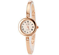 Women's Gold Slim Alloy Band Quartz Bracelet Watch (Assorted Colors)