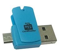 мини 2in1 Micro USB 2.0 OTG адаптер читатель микро SD TF карта для смартфона ПК