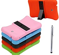 Silicone Shockproof Waterproof Case with Stand and PA for SAMSUNG Tab3 P3200 7.0 (Assorted Colors)