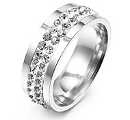 Ring,Band Rings,Jewelry Stainless Steel Party / Daily / Casual Silver7 / 8 / 9 Women