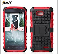 Hybrid TPU+PC Kick Stand Phone Case Covers Shell Cover for LG  L90 D405 (Assorted Colors)