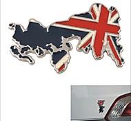 liga de alumínio do carro elegante decoração sticker - padrão mapa britânico