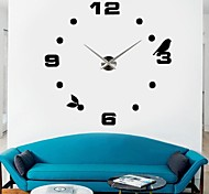 "39 ""diy autocollant 3d horloge murale w"