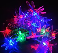jiawen® 4m 20leds RGB-LED-Libelle Lichterketten Weihnachtsschnurlicht für die Dekoration (ac 110-220V)