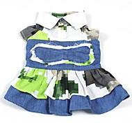 Dog Dresses - S - Summer - Blue Cotton