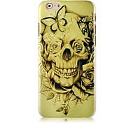 Butterfly Skulls Pattern Hard Back Case for iPhone 6 Plus