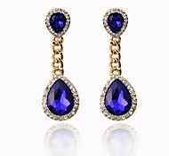 Women's Fashion Glass Water Drop Stud Earrings(More Colors)
