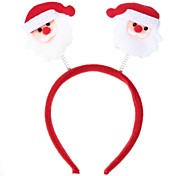 White & Red Christmas Decorations Head Buckle