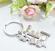 Personalized Engraving Train Metal Keychain