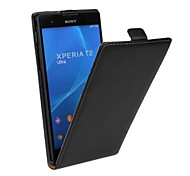 Open Up and Down PU Leather Full Body Case for Sony Xperia T2 Ultra