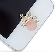 1Pcs Opal Crowne 1cm Buttons Stickers for iPhone and Others