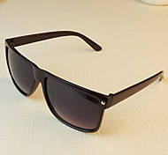 Sunglasses Men / Women / Unisex's Classic / Sports / Fashion Rectangle Black / White / Brown Sunglasses Full-Rim